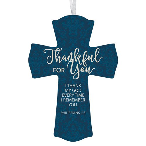Thankful for You Cross - 12/pk