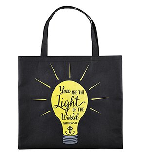 Light of the World Glow-in-the-Dark Tote Bag - 12/pk