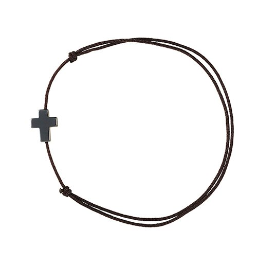 Hematite Cross Bracelet - 24/pk