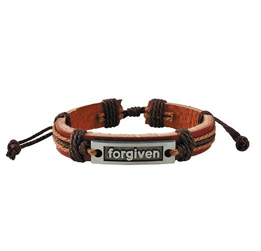 Forgiven Leather Bracelet - 12/pk