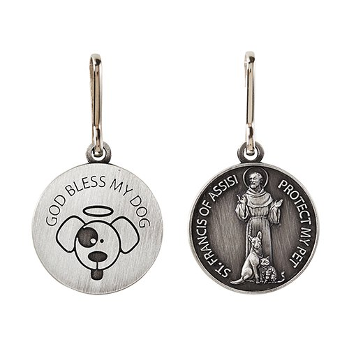 God Bless My Dog St. Francis Pet Medal - 12/pk