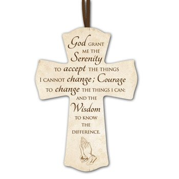 Serenity Prayer Cross - 12/pk