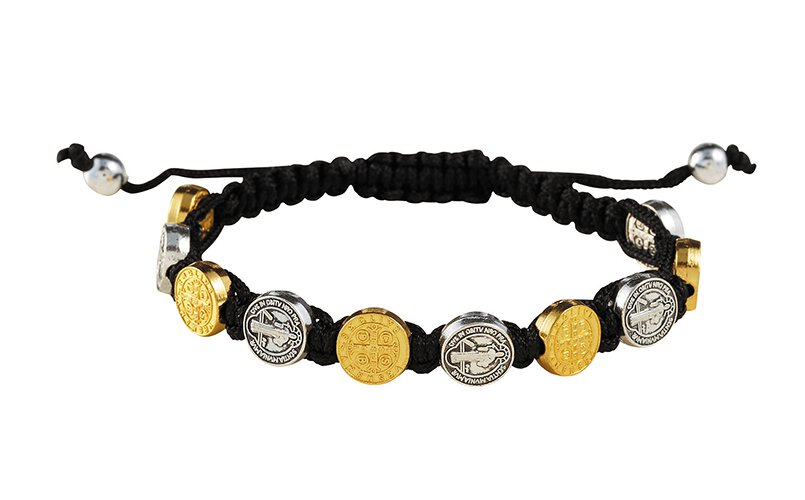 St. Benedict Silver and Gold Medals Bracelet - 12/pk