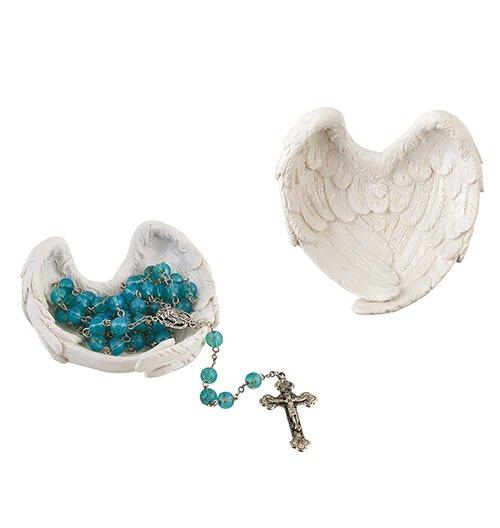 Angel Wings Rosary Dish - 6/pk