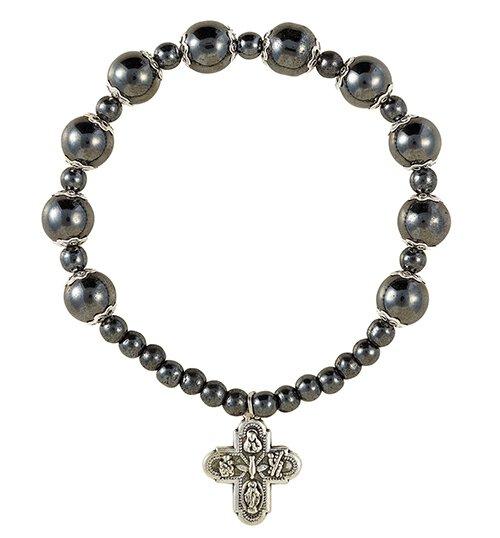 Hematite Rosary Bracelet - 12/pk
