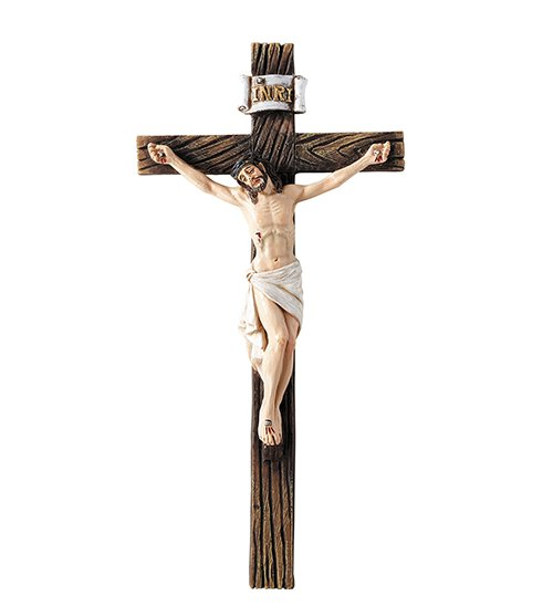 Traditional Wall Crucifix - 3/pk