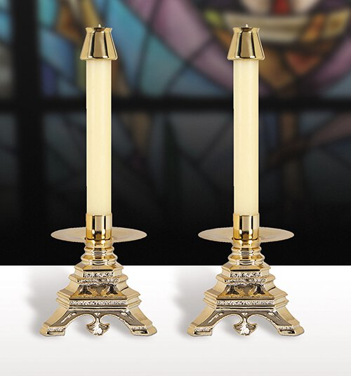 Versailles Resin Candlesticks - Set of 2