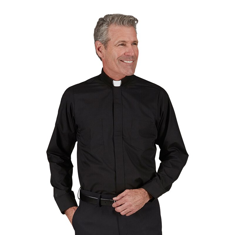 100% Cotton Tab Collar Shirt - Long Sleeve