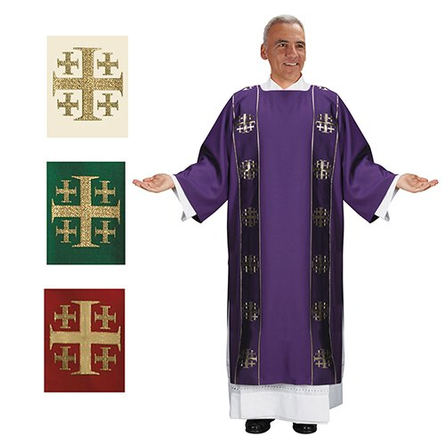 Jerusalem Cross Dalmatic Set of 4 Colors