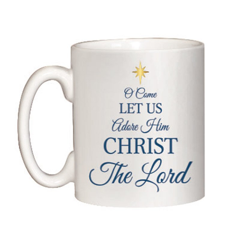 O Come Let Us Adore Him Christmas Mug - 12/pk