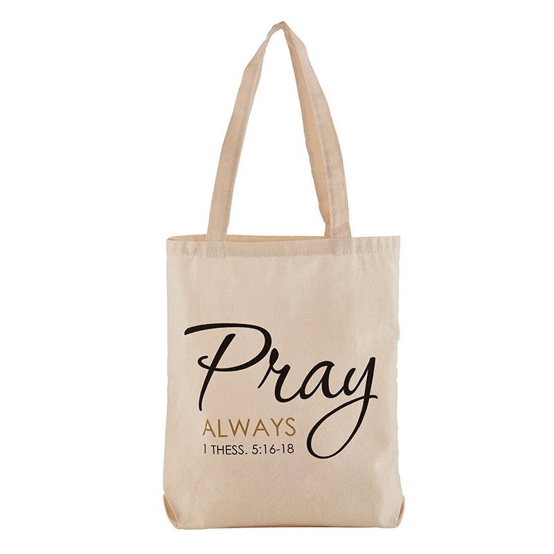 Pray Always Tote Bag with Inside Pocket - 12/pk