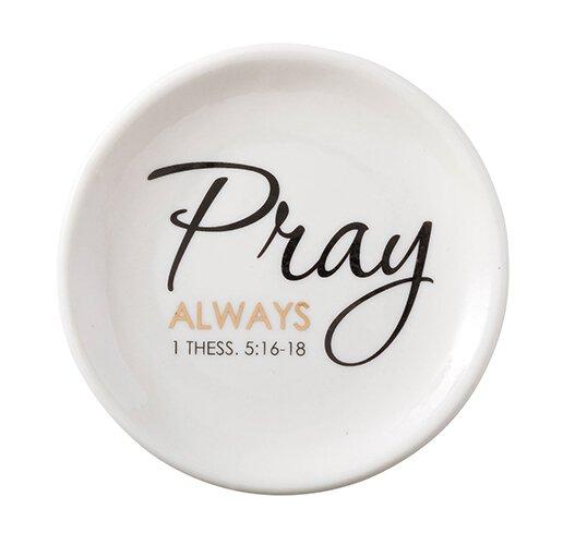 Pray Always Rosary Dish - 12/pk