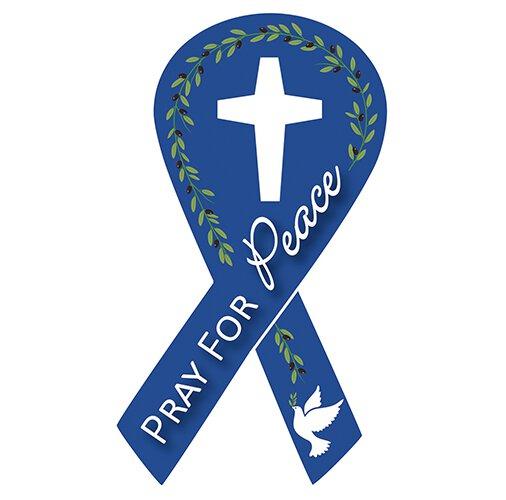 Pray for Peace Auto Magnet - 24/pk