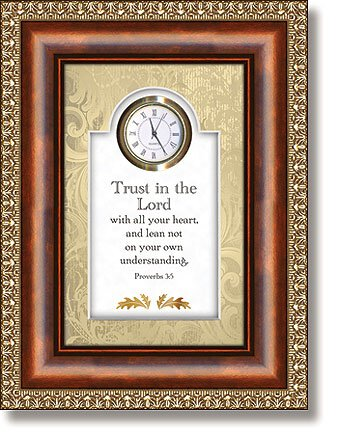 Trust In The Lord Proverbs 3:5 Clock