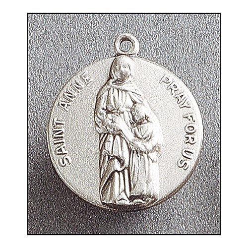 Saint Anne Medal In Sterling Silver