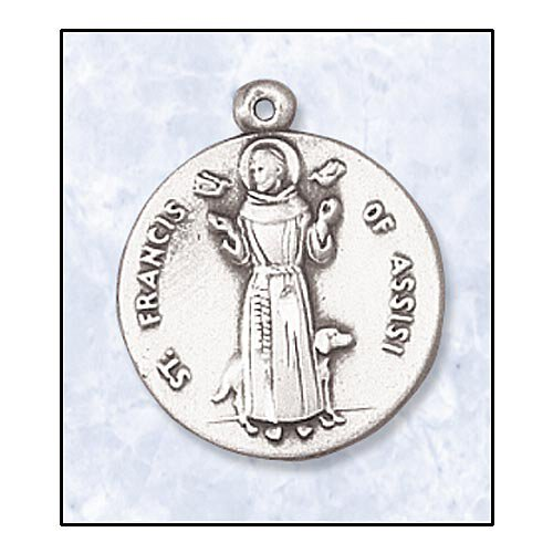 Saint Francis of Assisi In Sterling Silver