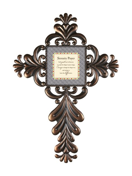 Jim Shore- Serenity Prayer- Metal Wall Cross
