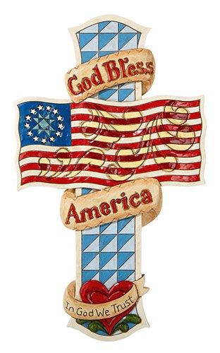 Jim Shore- God Bless America- Wall Cross