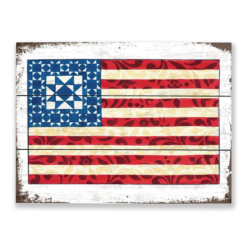 Jim Shore - God Bless America - Wood Pallet Sign