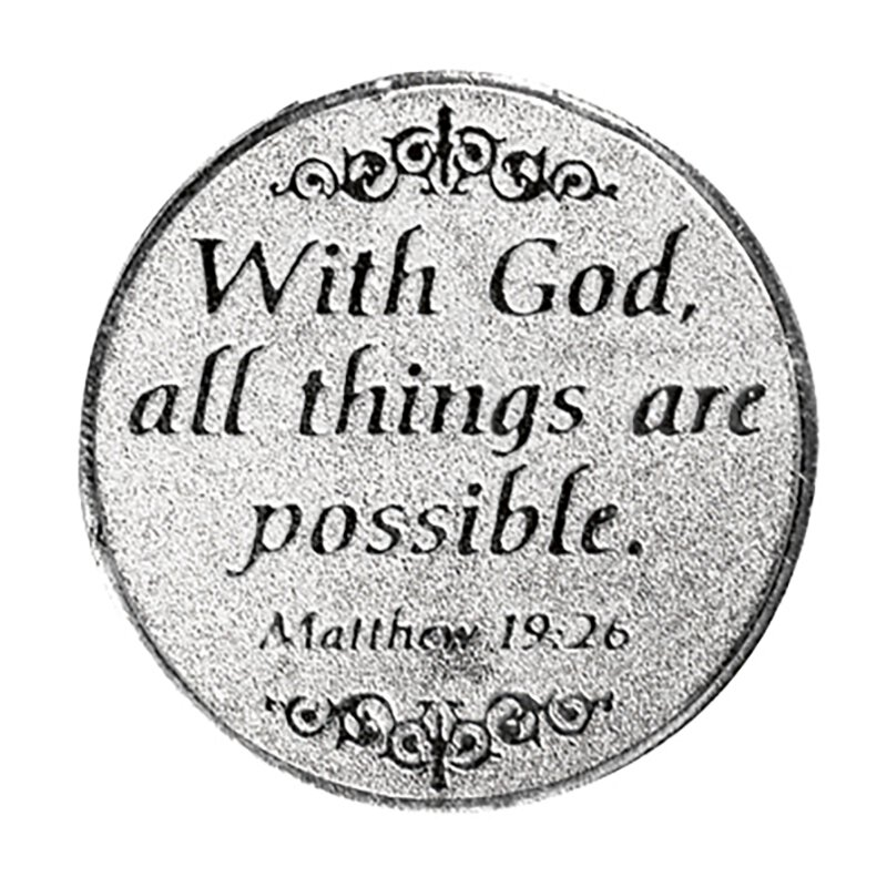 All Things are Possible Pocket Token  - 12/pk