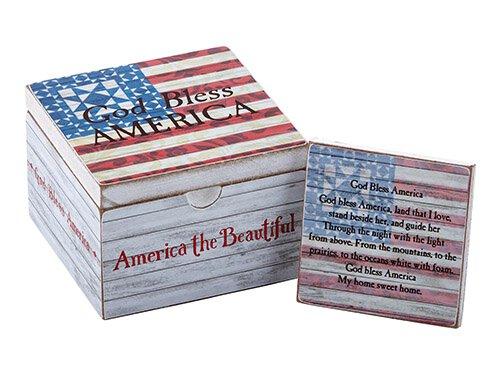 Jim Shore - God Bless America - Prayer Box