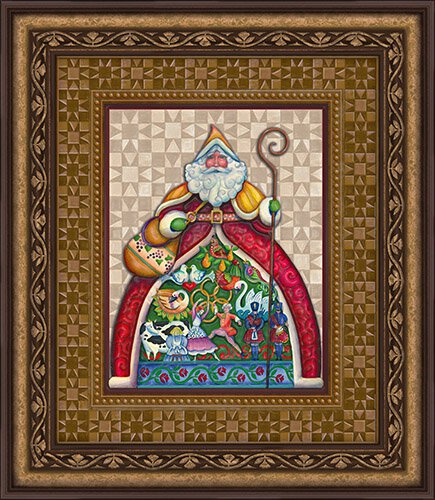 Jim Shore- Santa- Wall Art