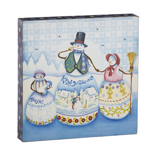 Jim Shore - Snowman Family - Lightbox