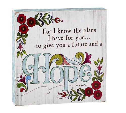 Jim Shore - Hope - Jeremiah 29:11 - Box Sign