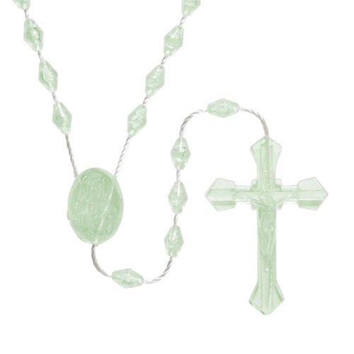 Diamond Shaped Luminous Cord Rosary - 50/pk