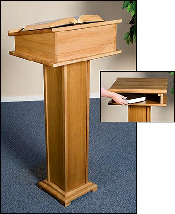 Lectern with Shelf