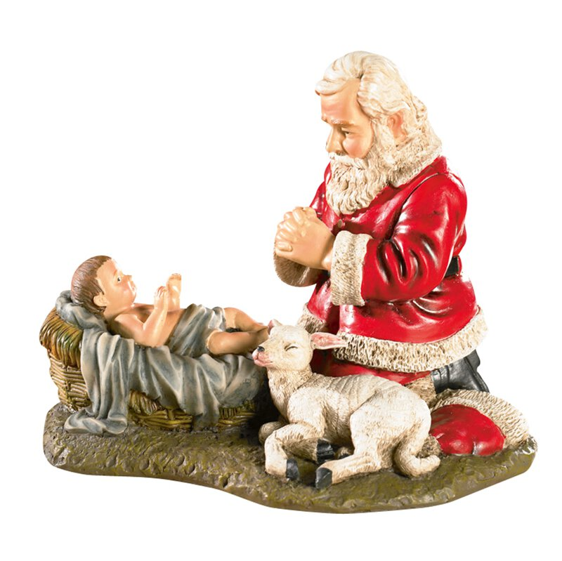 Adoring Santa Figurine