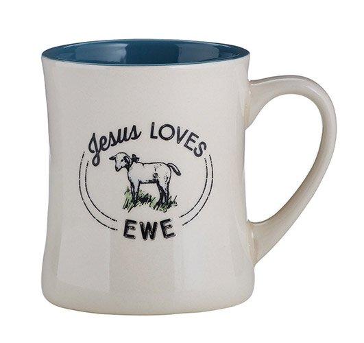 Creature Comforts Jesus Loves Ewe Mug