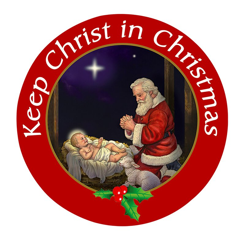 Keep Christ in Christmas Auto Magnet - 24/pk