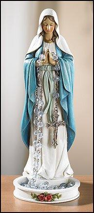 Madonna Rosary Holder