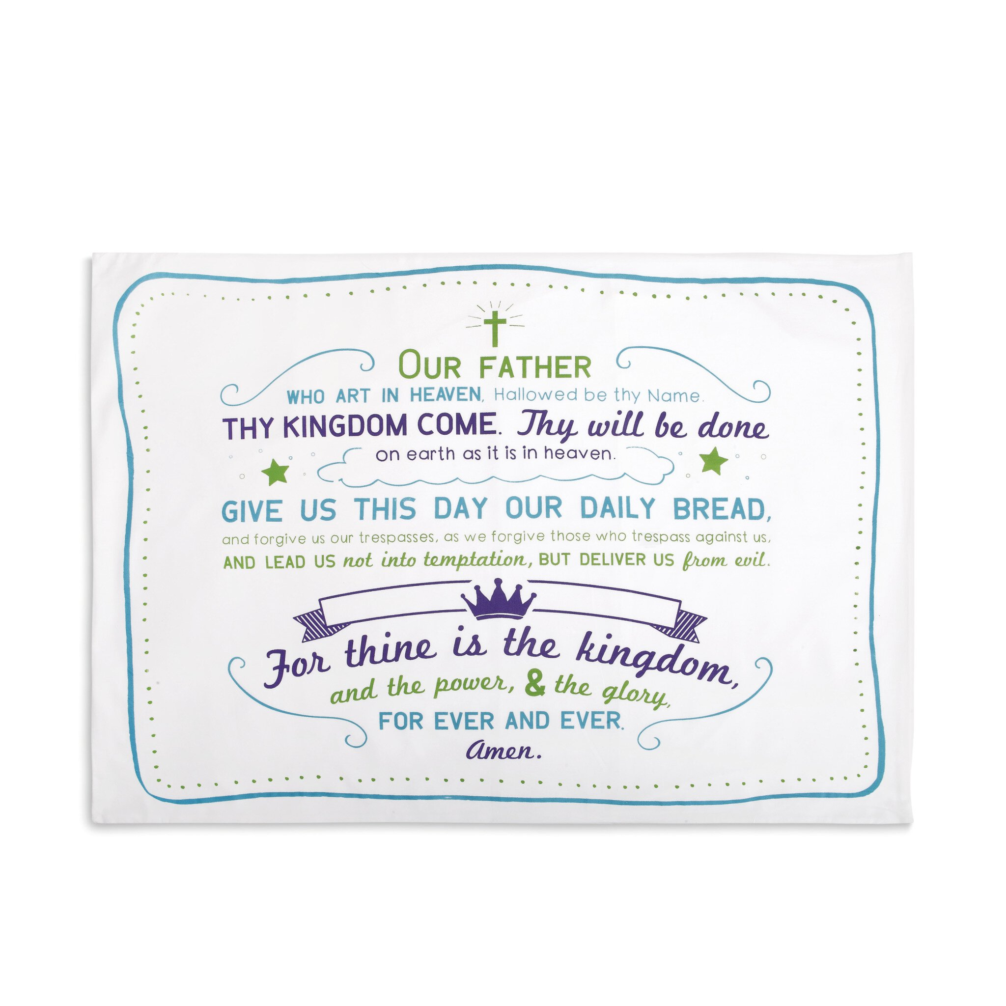 Our Father Prayer Pillow Case