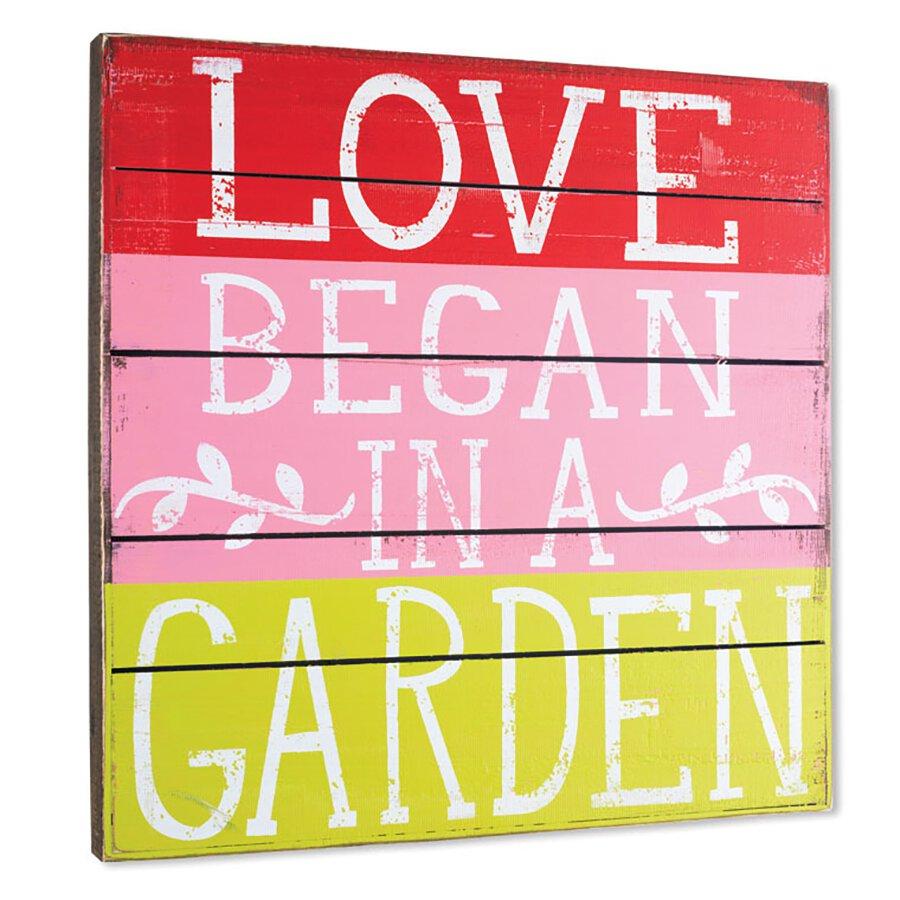 Love Began in a Garden Pallet Box Sign