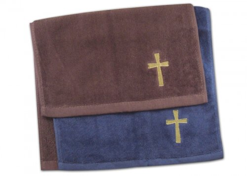 Burgundy Cross Towel