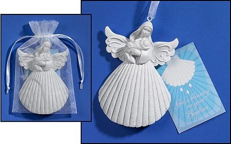 Baptism Shell Angel Keepsake