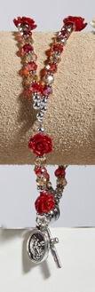 Saint Michael rose Rosary Bracelet