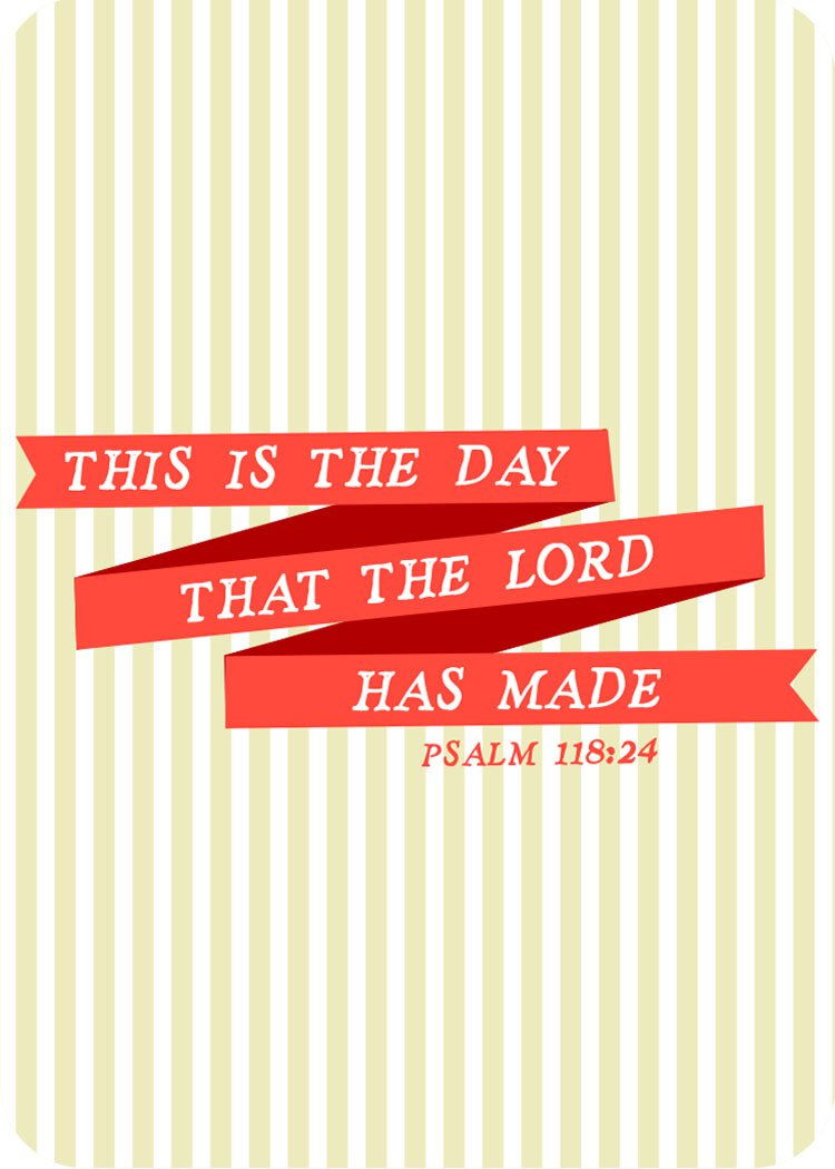 Verse Cards -  Day the Lord Made