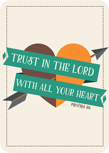 Verse Card - Trust in the Lord