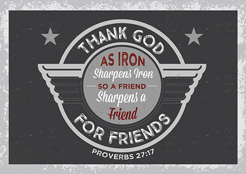 Postcard - Thank God for Friends - 6/pk