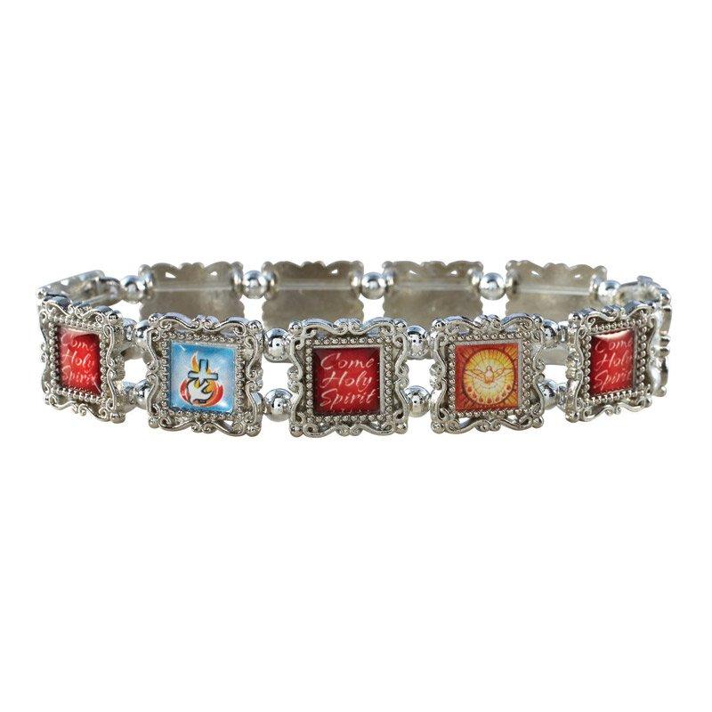 Confirmation Silver Panel Bracelet