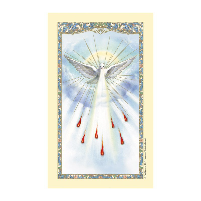 Holy Spirit Laminated Holy Card - 25/pk