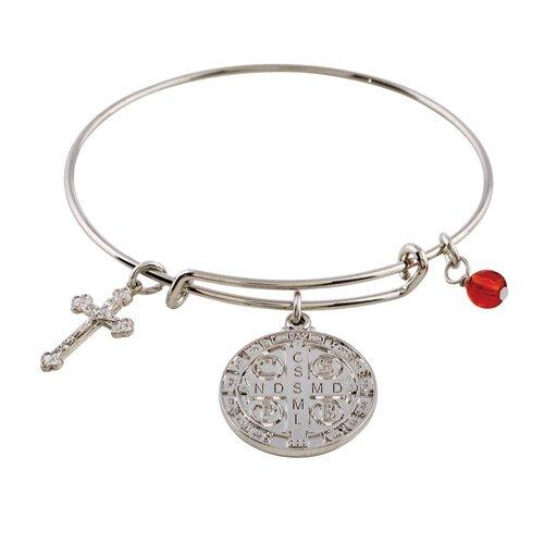 Be Blessed Bangle Bracelet - St. Benedict