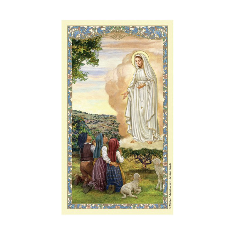 Our Lady of Fatima Laminated Holy Card - 25/pk