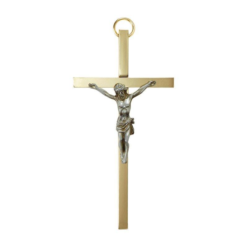 """James Brennan™ 4-1/4"""" Brass Crucifix - 4/pk"""