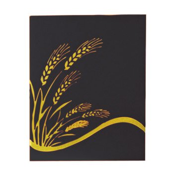 Ceremonial Binder with Wheat Design - Black