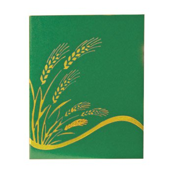 Ceremonial Binder with Wheat Design - Green