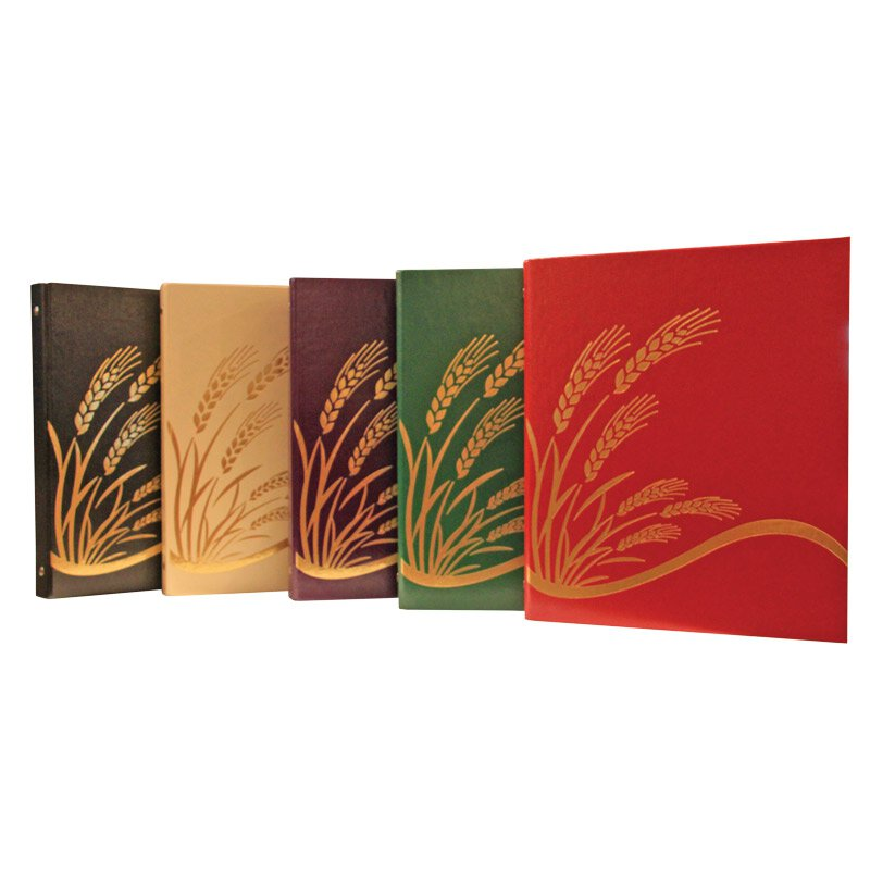 Ceremonial Binders with Wheat Design - Set of 5